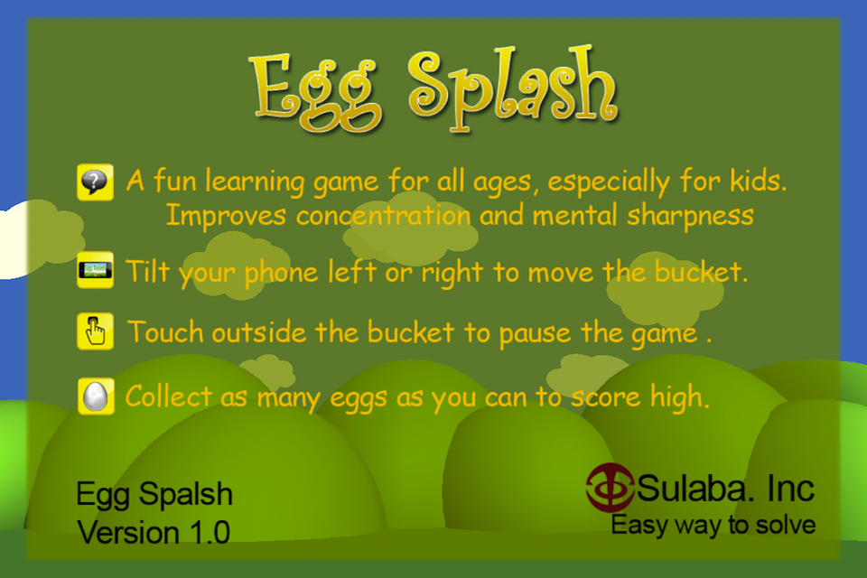 Screenshot Egg Splash – Touch & Catch Focus Game App for iOS